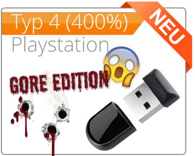 Type 4 Gore Edition for PlayStation 4 (old, slim, pro) - Aimbot for Destiny, Call of Duty, Fortnite, Battlefield, The Division etc.